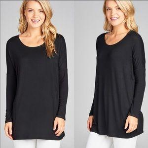 Black tunic style shirt